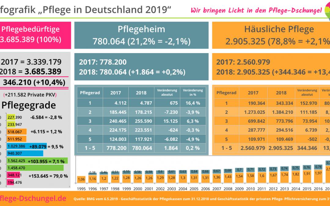 Infografik – Pflege in Deutschland 2019