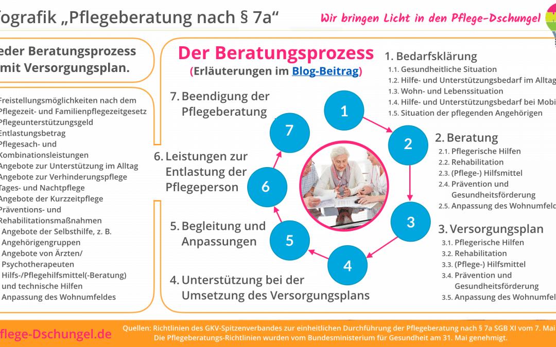 Infografik – Pflegeberatungs-Prozess