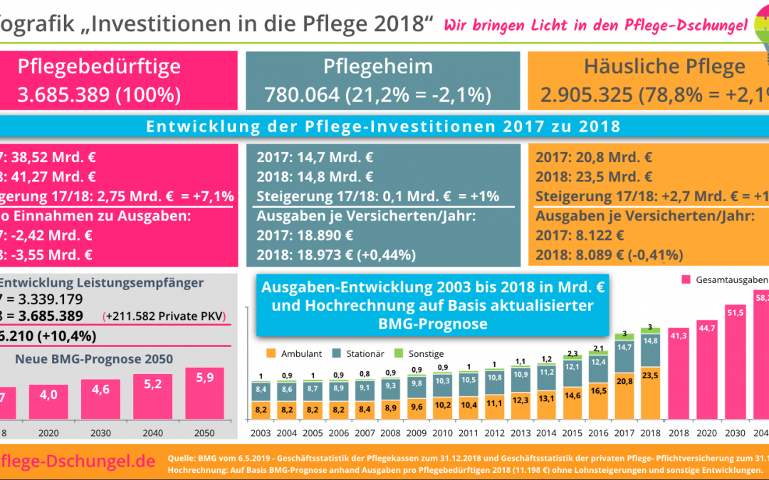 Infografik – Investitionen in die Pflege 2018